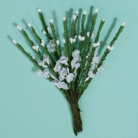 Bouquet 12 branches HEATHER SPRAY WHITE