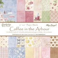 Assortiment papiers 15x15 cm COFFEE IN THE ARBOUR - Maja Design